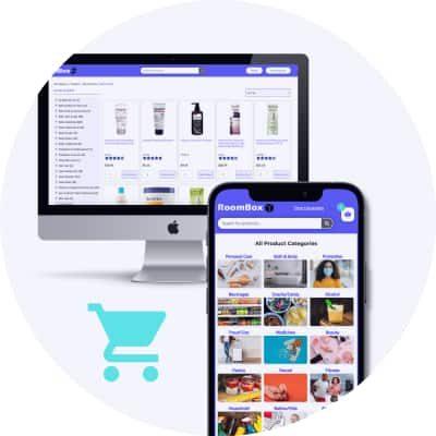 Order roombox via mobile or desktop